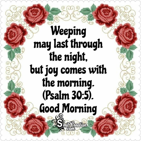 Good Morning Bible Vese On Joy