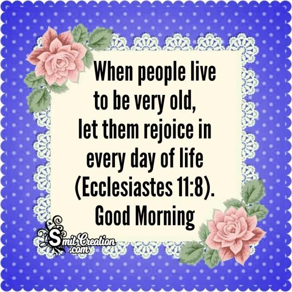 Good Morning Bible Rejoice Verse