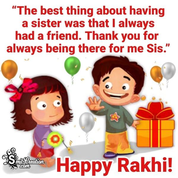 Happy Rakhi Greeting For Sister