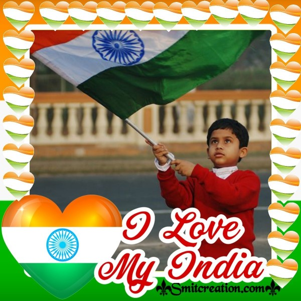 I Love My India Independence Day Card