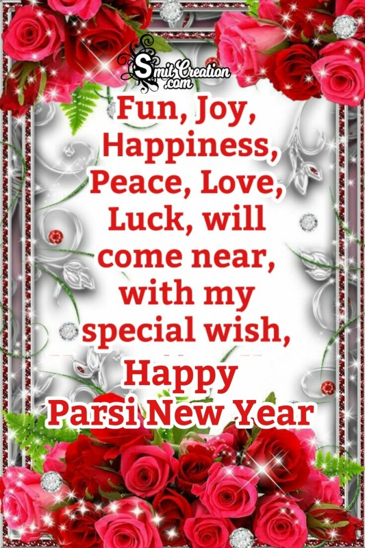 Happy Parsi New Year Greeting Card