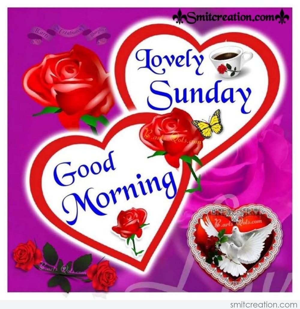 Good Morning Lovely Sunday   SmitCreation.com