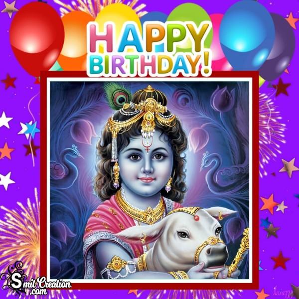 Happy Birthday Krishna Pic For Whatsapp