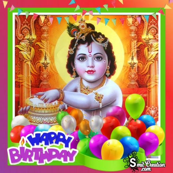 Happy Birthday Krishna Image For Facebook
