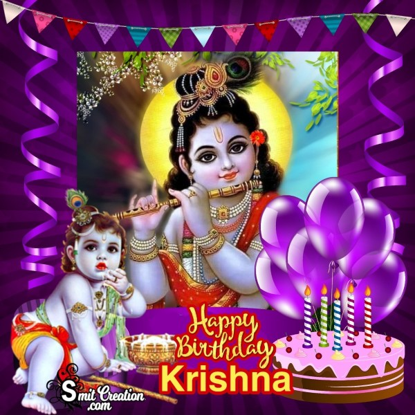 Happy Birthday Krishna Image For Whatsapp