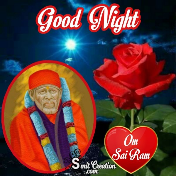 Good Night Om Sai Ram Lovely Pic