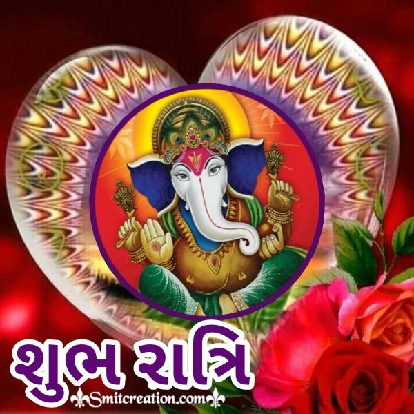 Ganesha Shubh Ratri Gujarati Pic