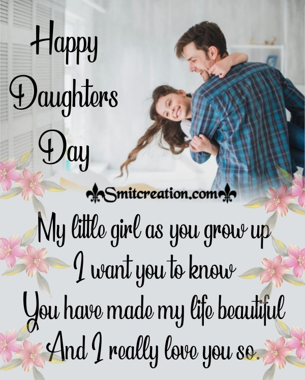 Happy Daughters Day My Little Girl