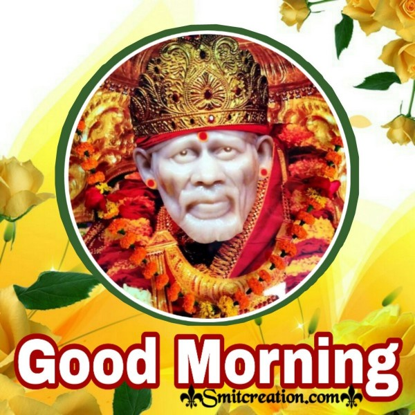 Good Morning Sai Baba Image