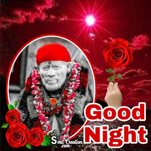 Good Night Sai Baba Image
