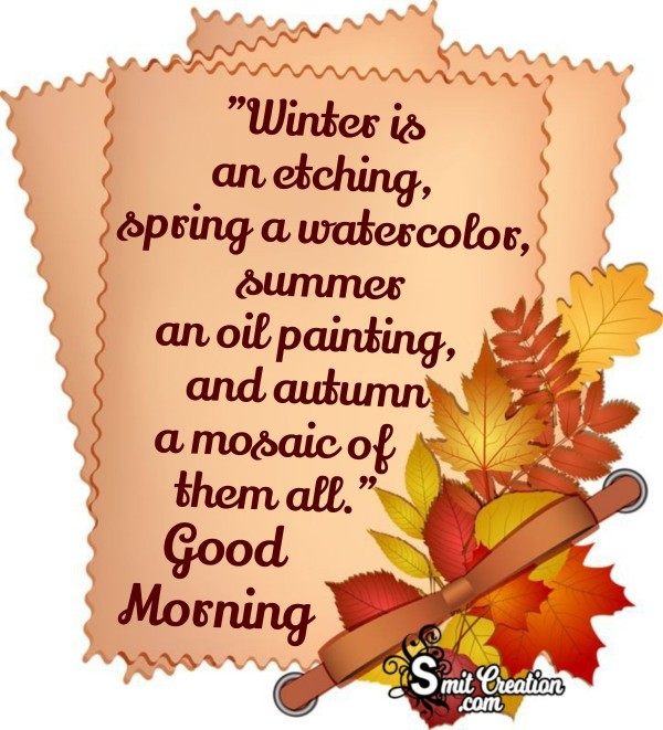 Good Morning Autumn Quotes Pictures