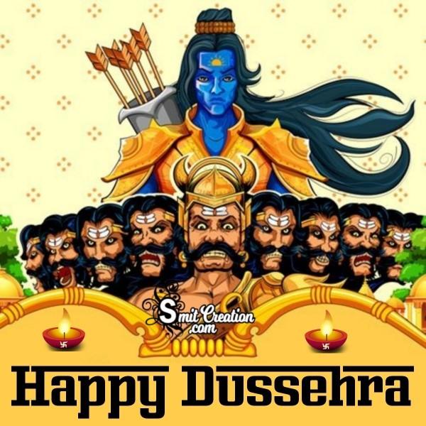 Happy Dussehra Ram Ravan Image