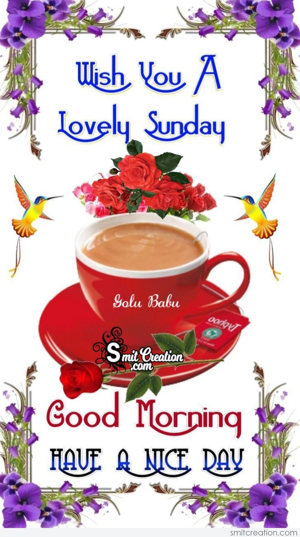 Wish You A Lovely Sunday   SmitCreation.com
