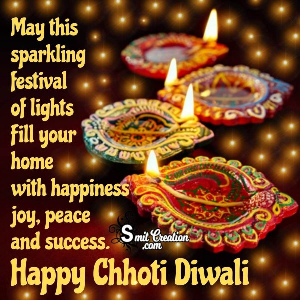 Happy Chhoti Diwali Sparkling Wishes