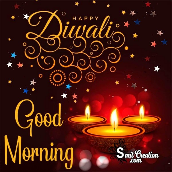 Good Morning Happy Diwali Card