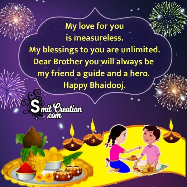 Happy Bhai Dooj Message Image For Brother