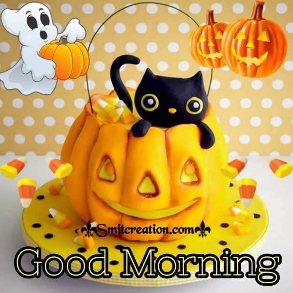 Good Morning Happy Halloween Card
