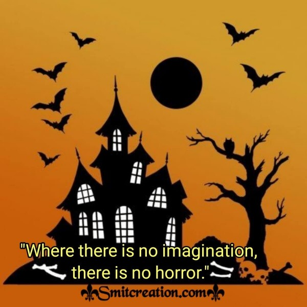 Halloween Saying On Imagination