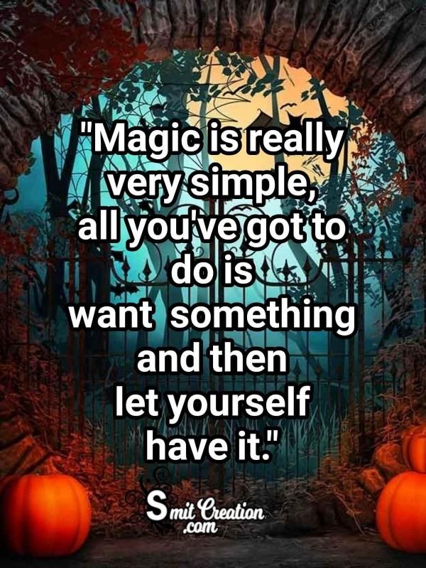 Halloween Quote On Magic
