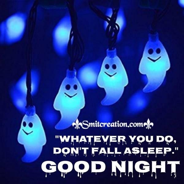 Good Night Halloween Card
