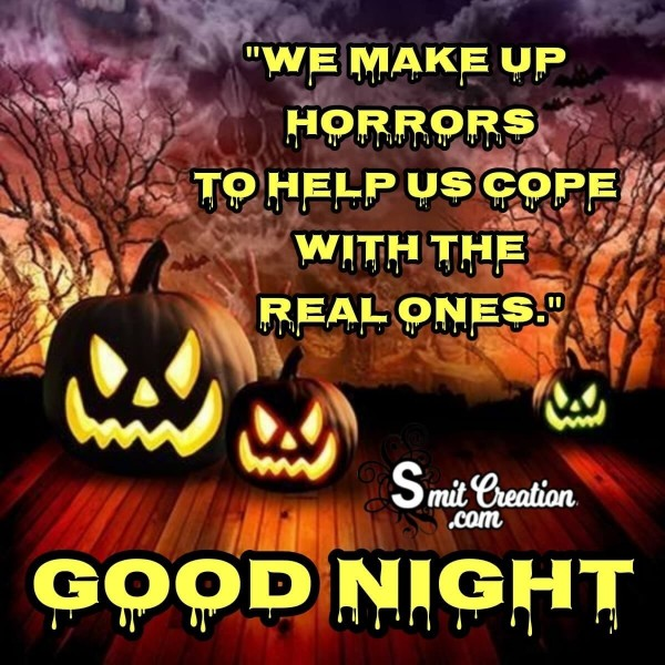 Good Night Halloween Pumpkins Image