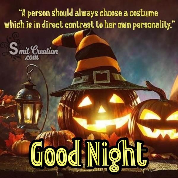 Good Night Halloween Quote