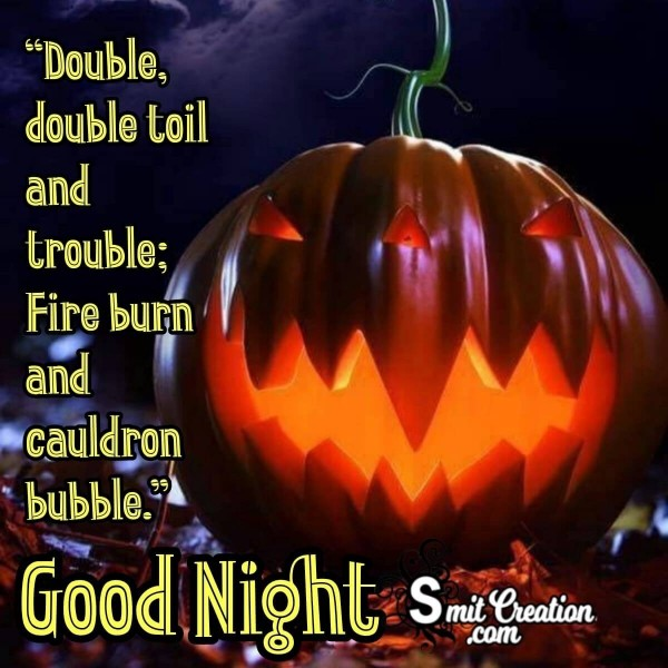 Good Night Halloween Pumpkin Image