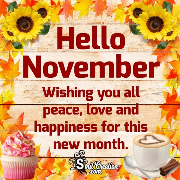 Hello November Wishes