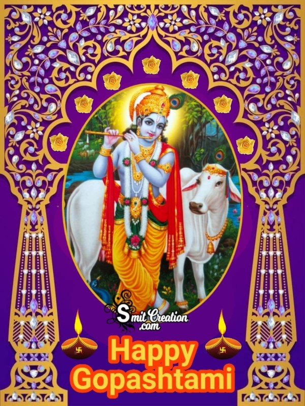 Happy Gopashtami Greeting Card
