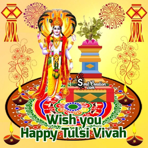 Wish You Happy Tulsi Vivah