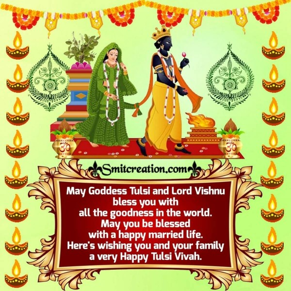 Tulsi Vivah Wishes For You And Your Family