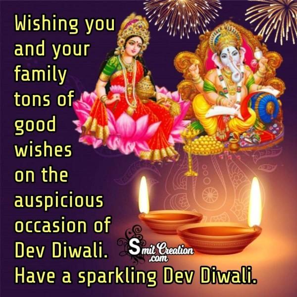 Have A Sparkling Dev Diwali.