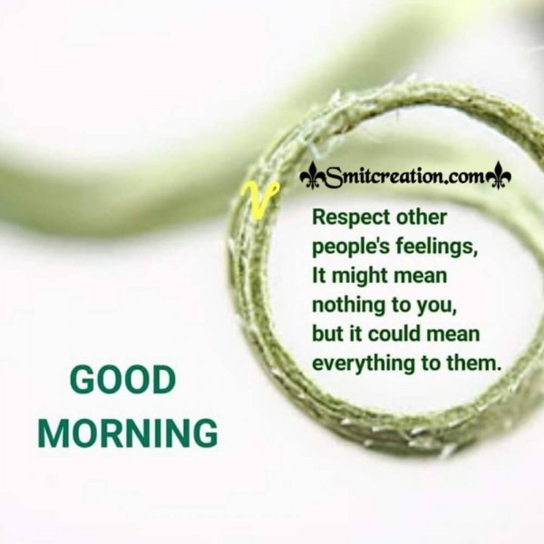 Good Morning Quote On People's Feelings