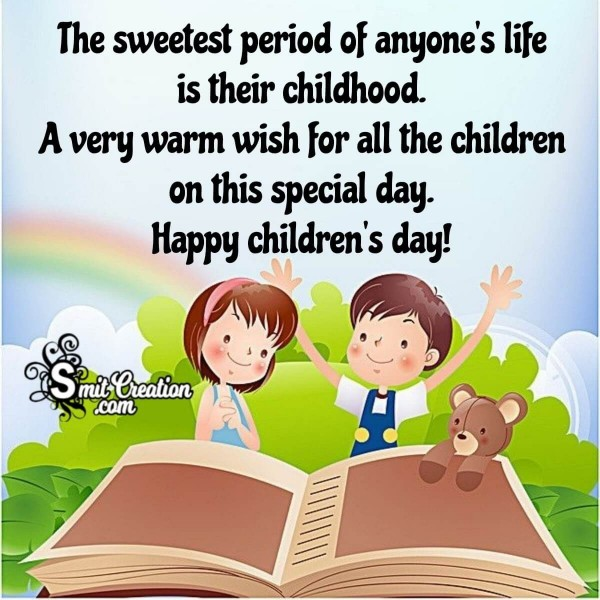 Happy Children's Day Childhood Message