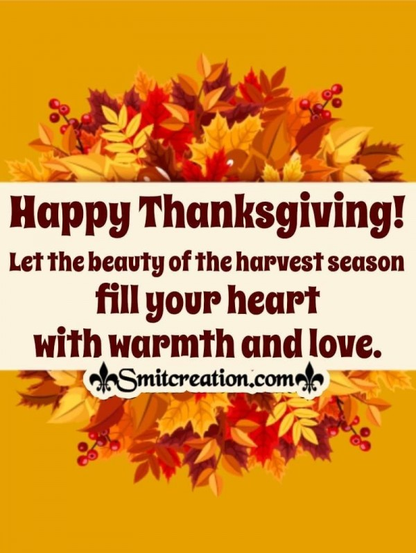 Thanksgiving Message Of Harvest Season
