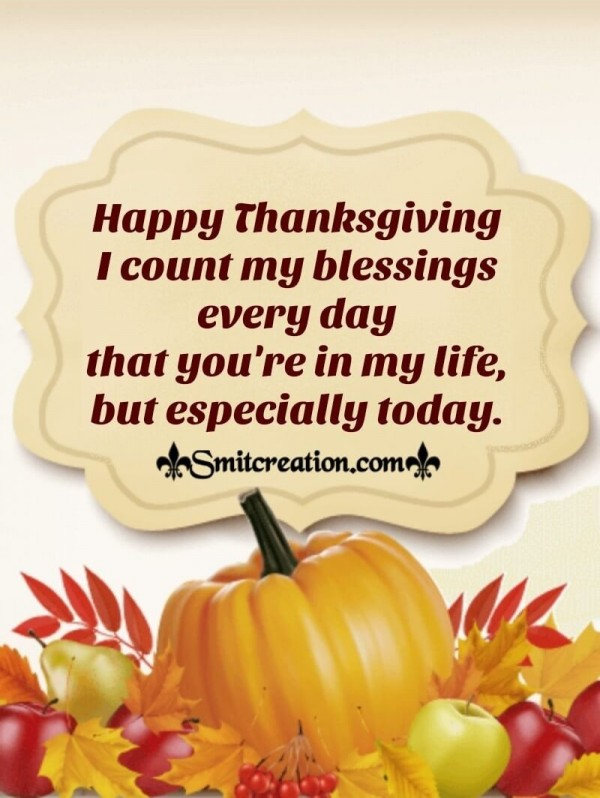 Happy Thanksgiving Wish For Dear One's