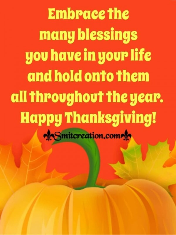 Thanksgiving Blessings For Whatsapp