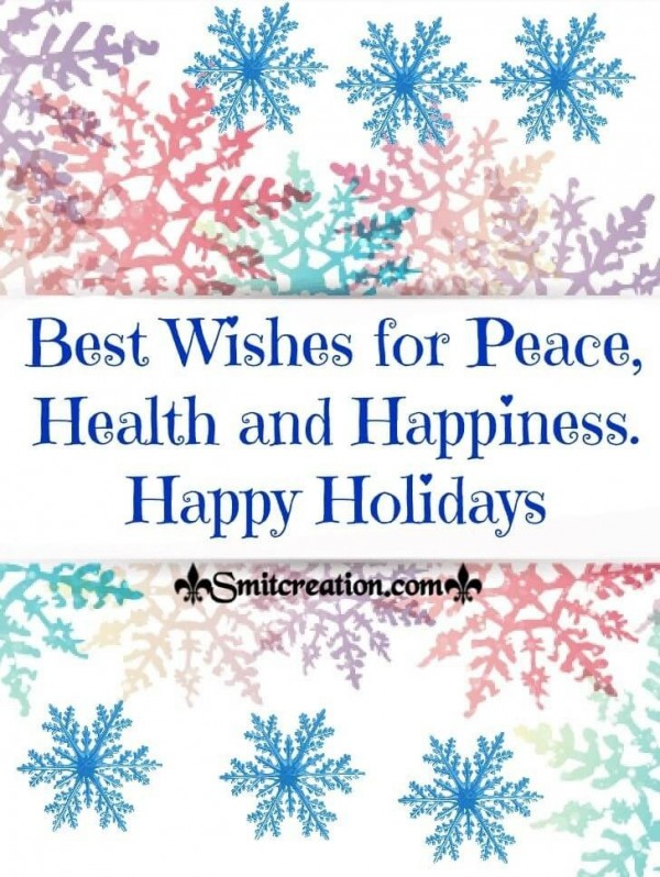 Best Wishes For Happy Holidays