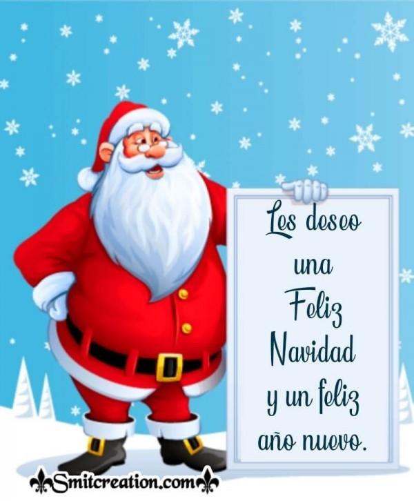 Les deseo una feliz Navidad y un feliz año nuevo