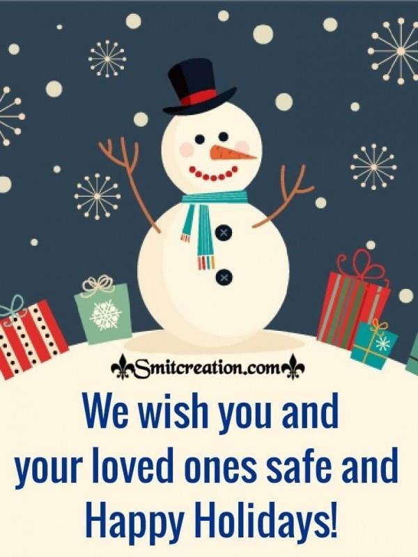 Happy Snowman Happy Holidays Card