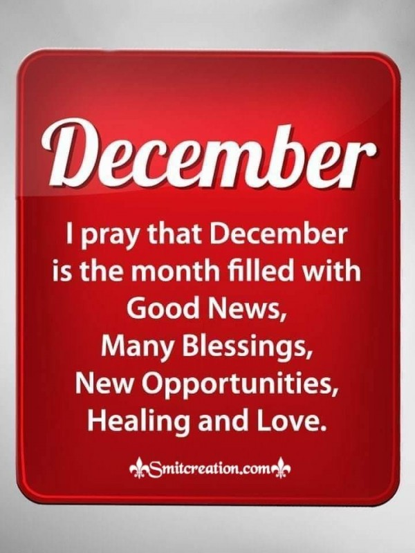 Blessings For December