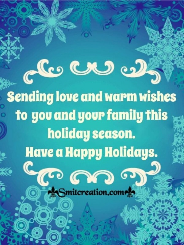 Happy Holidays Wishes Card
