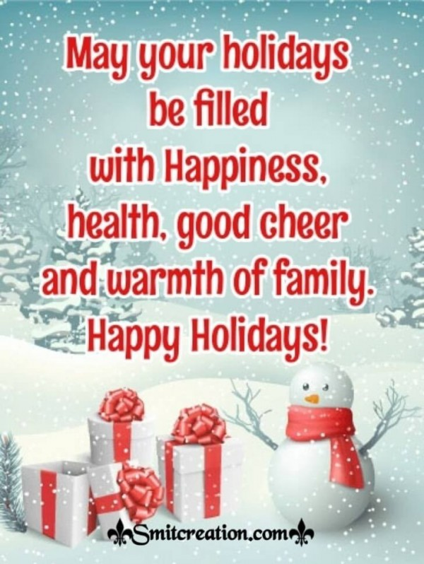 Happy Holidays Wishes For Friend