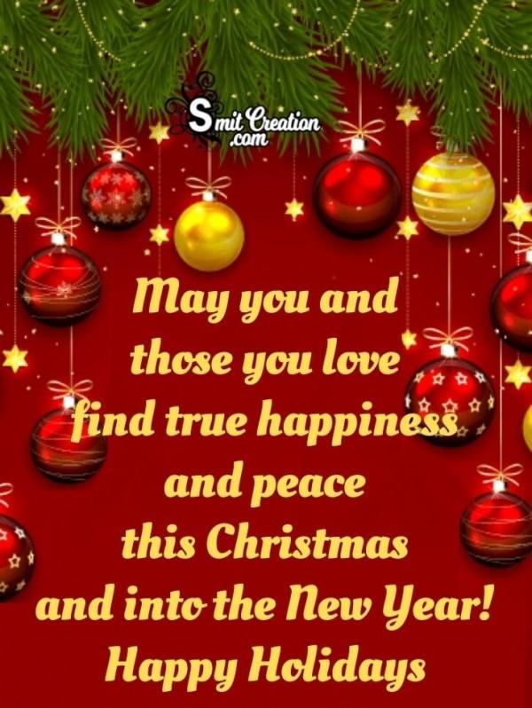 Happy Holidays Season Of Festivity Card