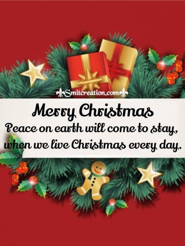 Merry Christmas Garlands Card