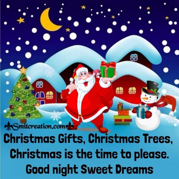 Good Night Christmas Gifts Card