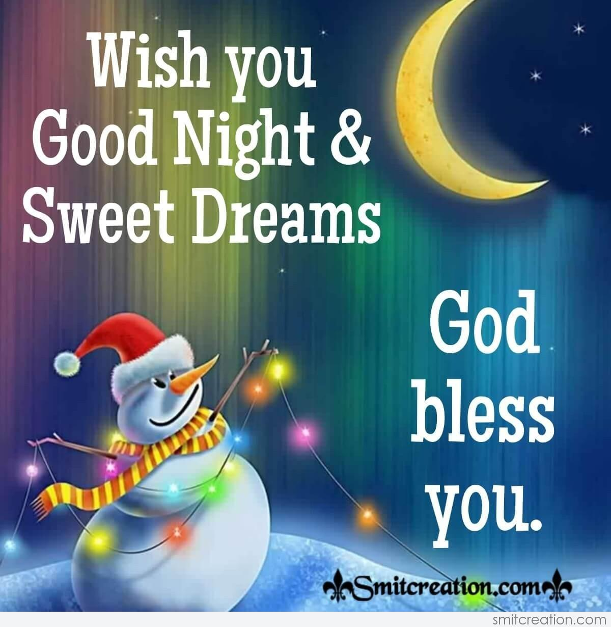 Wish You Good Night And Sweet Dreams - SmitCreation.com
