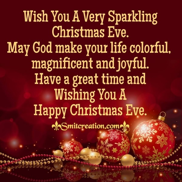Wish You A Very Sparkling Christmas Eve