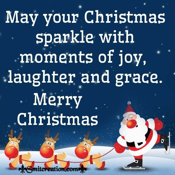 Merry Christmas Sparkling Wishes