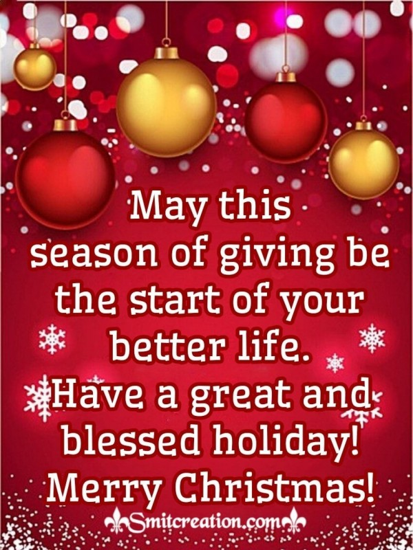 Merry Christmas Blessed Holiday